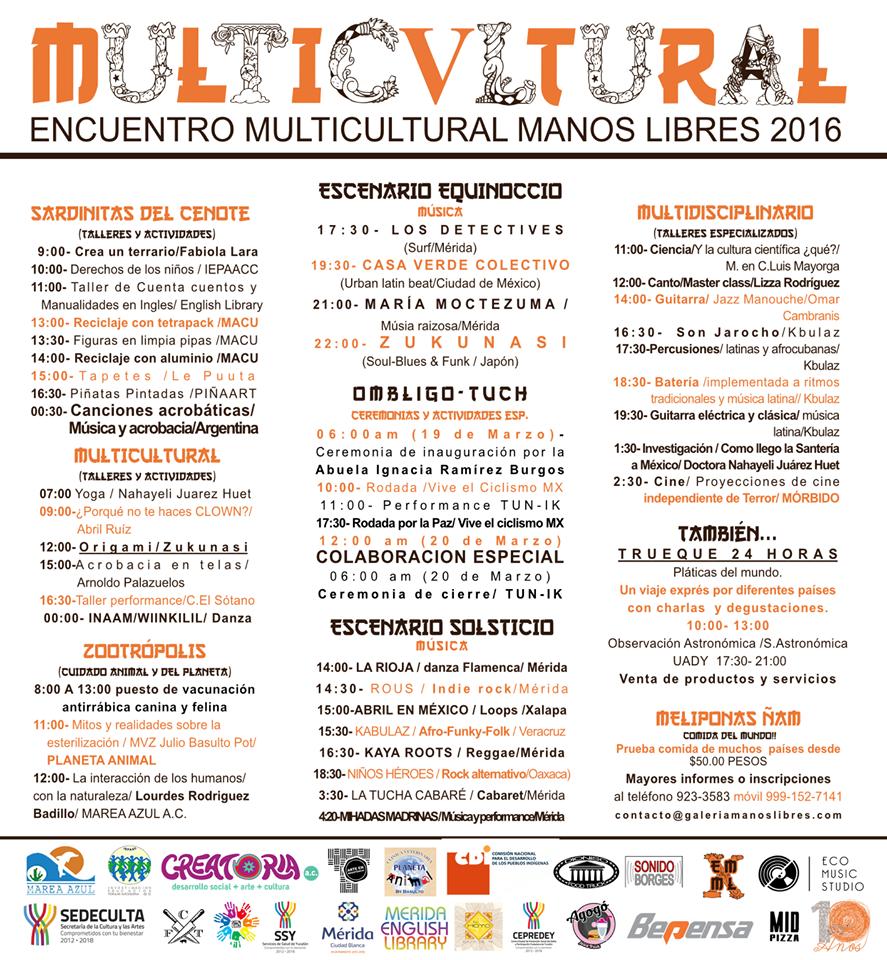 Programa ENCUENTRO MULTICULTURAL MANOS LIBRES 2016