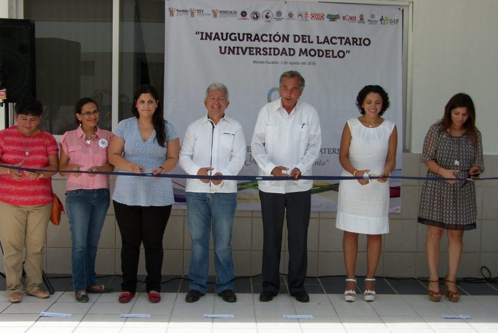 Inauguran lactario en la Universidad Modelo