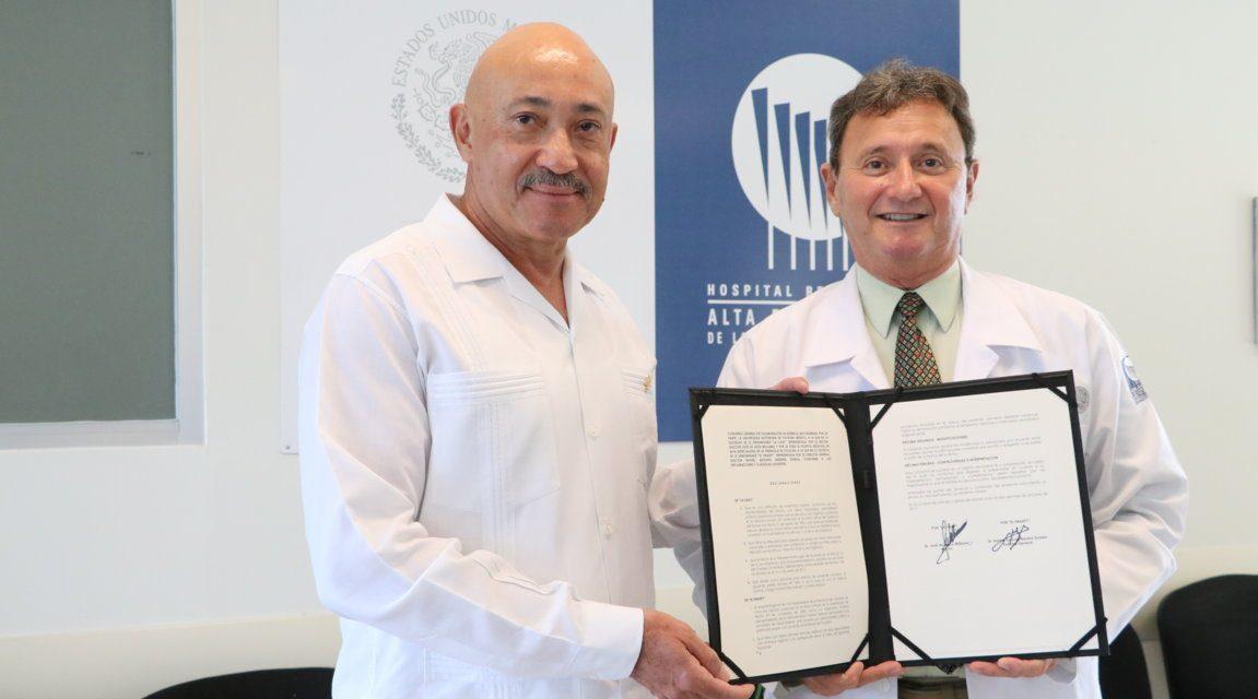 La UADY y el Hospital Regional de Alta Especialidad firman convenio colaboración